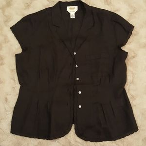 Talbots 100% Irish Linen blouse sz 12